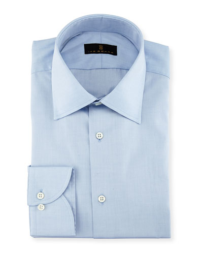 Gold Label Micro-Herringbone Cotton Dress Shirt