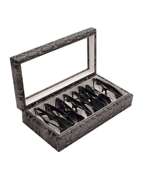 Exotic-Print Faux Leather Eyewear Organizer Case