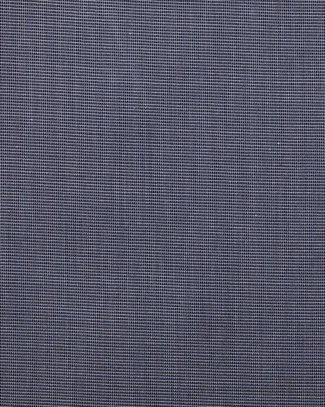 Slim-Fit Textured Dress Shirt, Navy