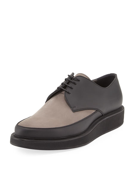 Men's Suede & Leather Derby Creeper, Gray