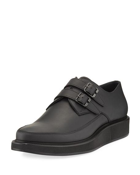 Lanvin Double-Monk Creeper Shoe