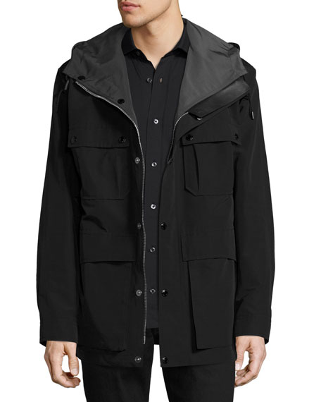 TOM FORD Hooded 4-Pocket Field Jacket, Black