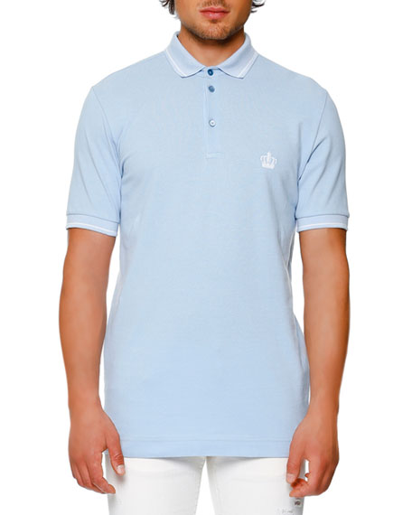 Dolce & Gabbana Tipped Piqué Polo Shirt, Light