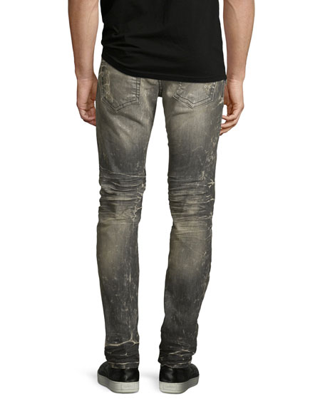 Distressed Skinny Jeans, Gray