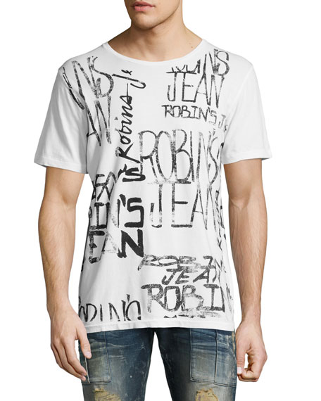 Robin's Jeans Logo-Print T-Shirt, White