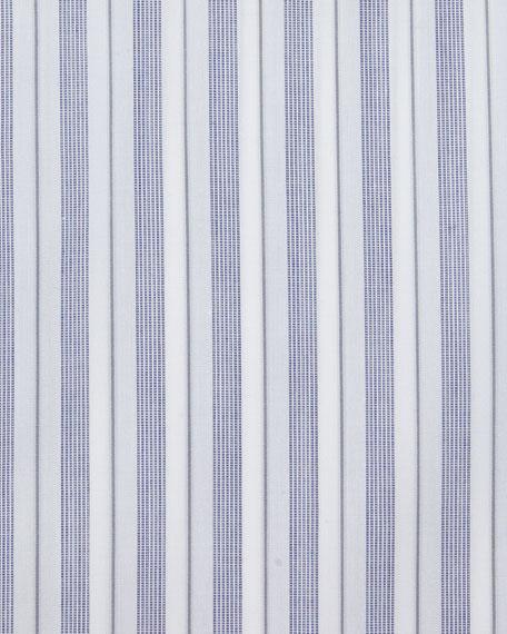 Bold-Stripe Dress Shirt, Navy/White