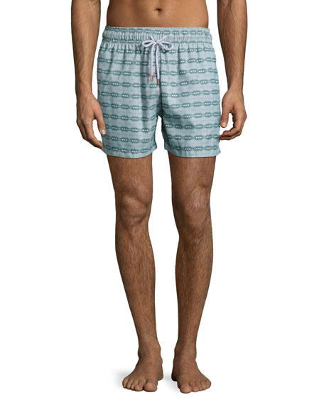 Retromarine Guillauche Ball Printed Swim Trunks, Green