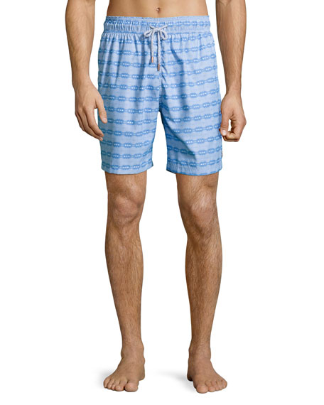 Retromarine Guillauche Ball Printed Swim Trunks, Blue