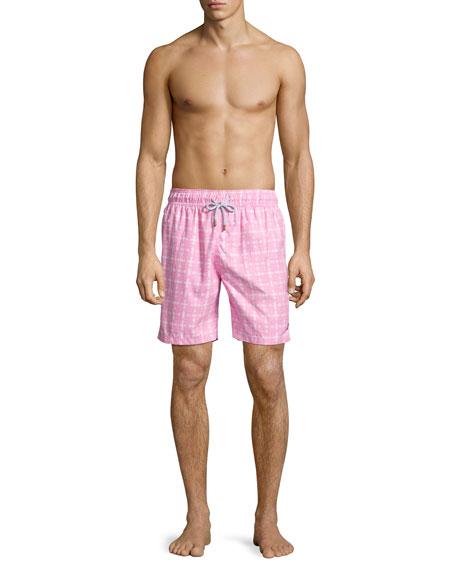 Guillauche Benjamin Printed Swim Trunks, Pink