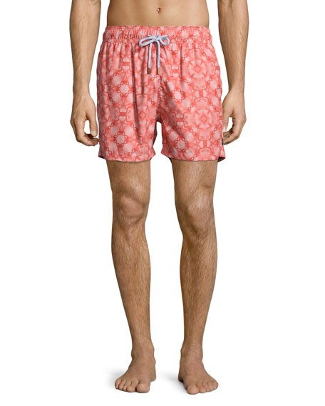 Retromarine Guillauche Flop Printed Swim Trunks, Red