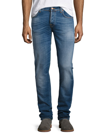 Nudie Grim Tim Slim Jeans, Orange Cloud