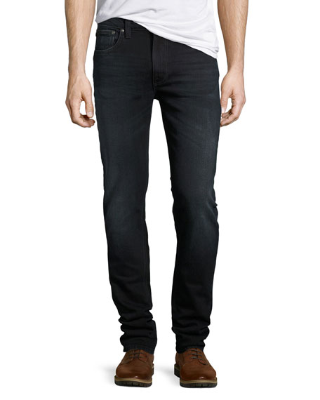 Nudie Lean Dean Skinny Jeans, Black