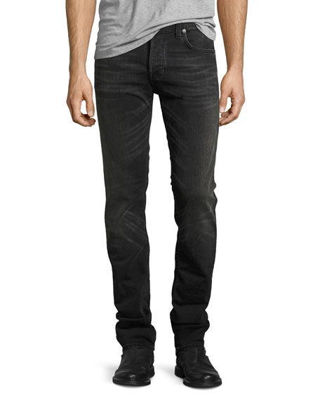 Nudie Grim Tim Slim Jeans, Black