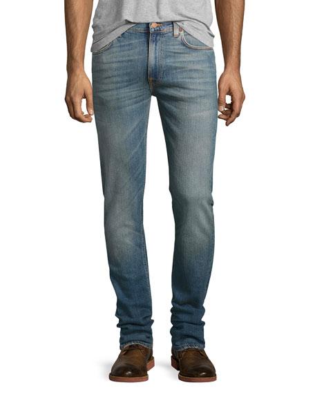 Nudie Lean Dean Skinny Jeans, Blue