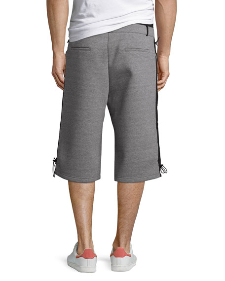 Mayu Neoprene Sweat Shorts, Gray/Black