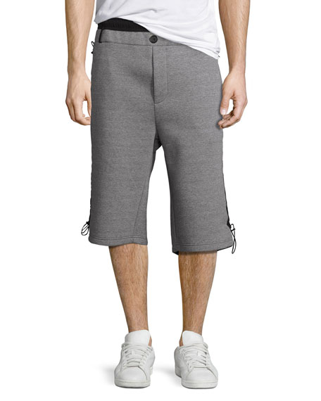 Public School Mayu Neoprene Sweat Shorts, Gray/Black