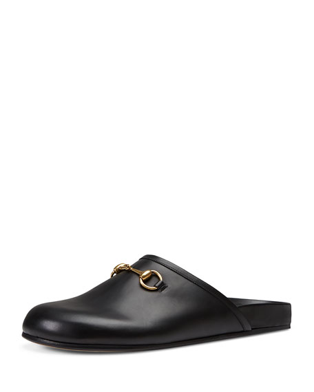 Gucci Horsebit Leather Slipper, Black