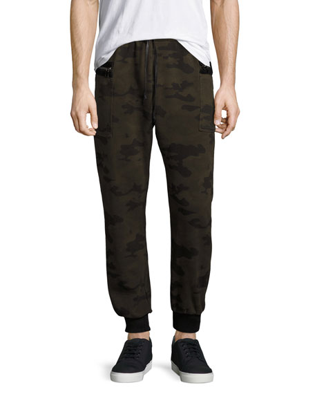 Hudson Holden Camo-Print Jogger Pants, Green