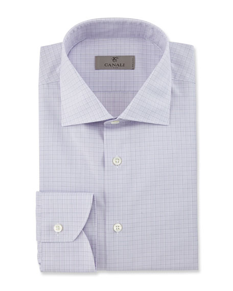 Modern Fit Graph Check Dress Shirt, Pink