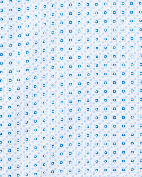Impeccabile Geometric-Print Dress Shirt, Blue