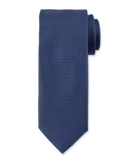 Canali Micro-Neat Silk Tie, Navy