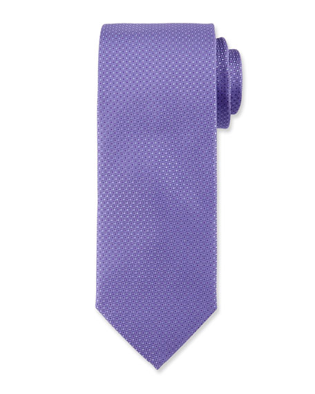 Micro-Neat Silk Tie, Purple