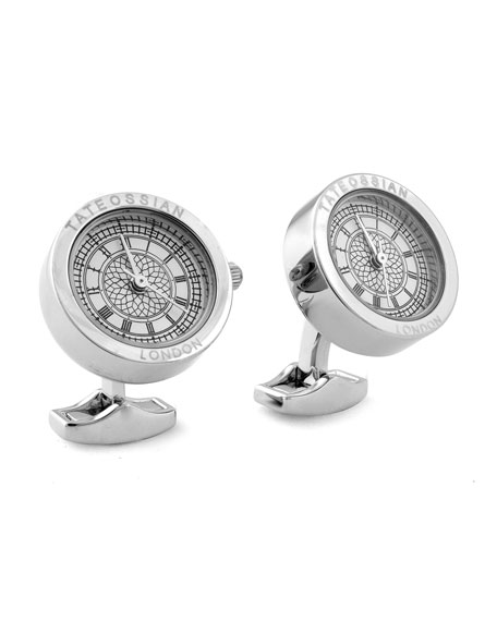 Big Ben Stainless Steel Cuff Links