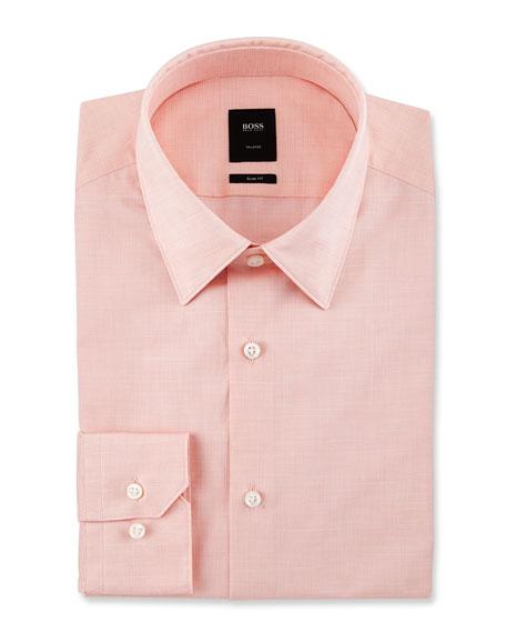 BOSS Tailored Slim-Fit Dress Shirt, Light Orange