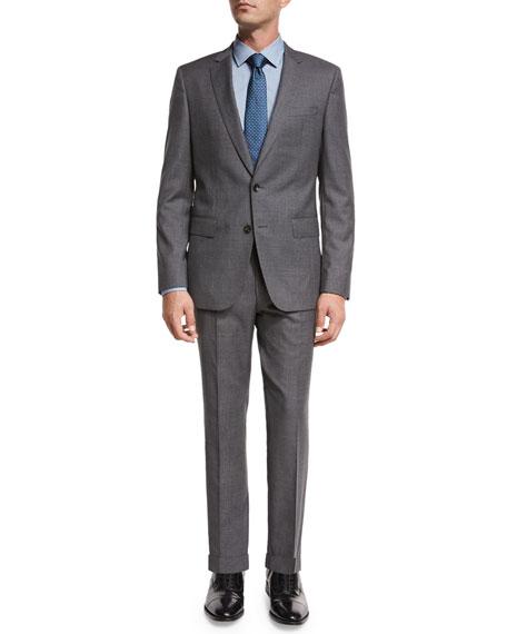 BOSS Fresco Wool Two-Piece Travel Suit, Gray