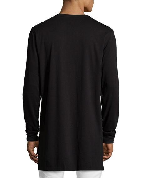 Abstract Long-Sleeve T-Shirt, Black