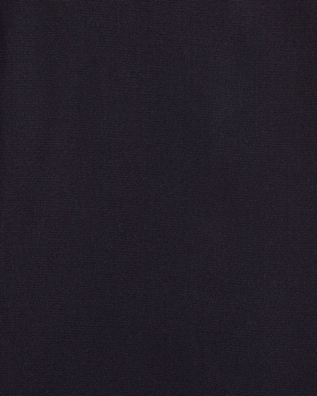 Slim-Fit Classic-Collar Dress Shirt, Navy