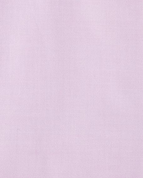 Slim-Fit Small Classic-Collar Dress Shirt, Pink
