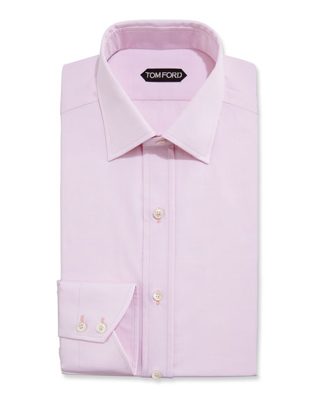 TOM FORD Slim-Fit Small Classic-Collar Dress Shirt, Pink