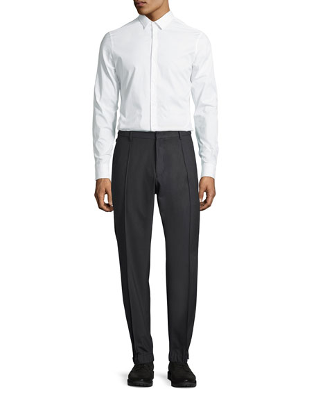 Techno Stretch Jogger Trousers, Charcoal Gray