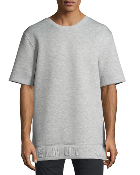 Helmut Lang 3D Logo Neoprene T-Shirt, Light Heather