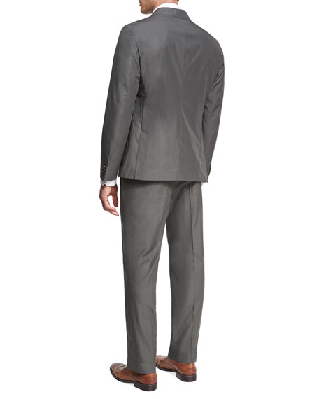 Cotton Two-Piece Suit, Gray