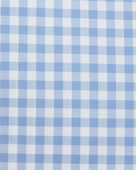Contemporary-Fit Gingham Dress Shirt, Blue/White