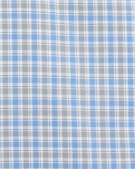 Contemporary-Fit Check Dress Shirt, Blue/Gray