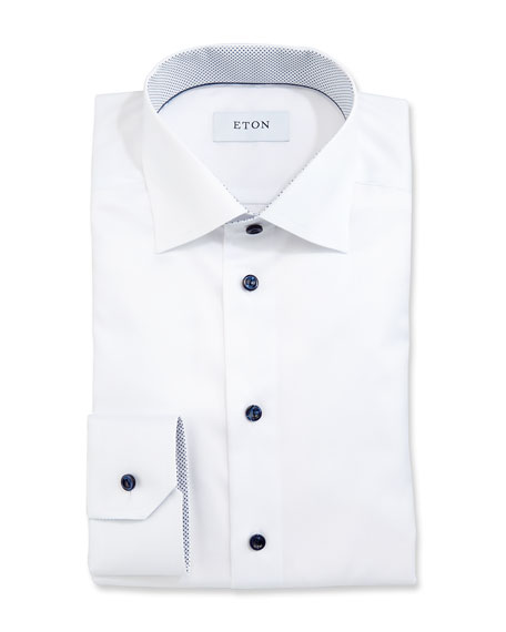 Eton Slim-Fit Dress Shirt, White