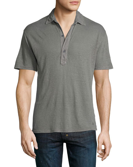 Orlebar Brown Branigan Tailored-Fit Garment-Dyed Linen Polo