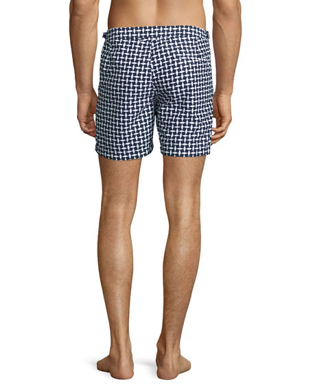 Bulldog Huron Mid-Length Swim Trunks, Navy