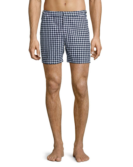 Orlebar Brown Bulldog Huron Mid-Length Swim Trunks, Navy