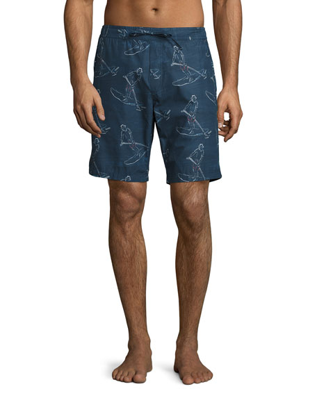 Orlebar Brown Lawrence Paddlin' Print Relaxed-Fit Swim Trunks,