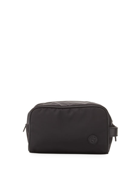 Nylon Toiletry Travel Case, Black