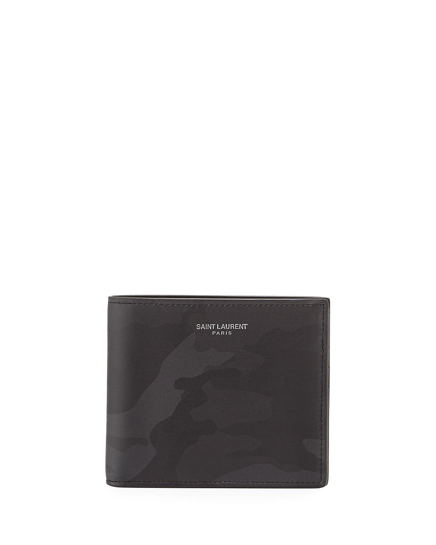 e97c97e425b Saint Laurent Camouflage Leather Billfold Wallet, Tonal Camo ...