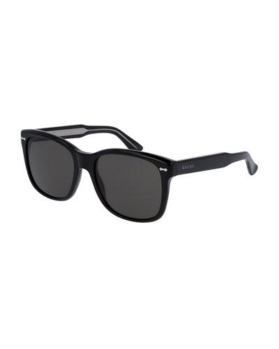 Gucci Square Sunglasses  gucci men s sunglasses aviators round at neiman marcus