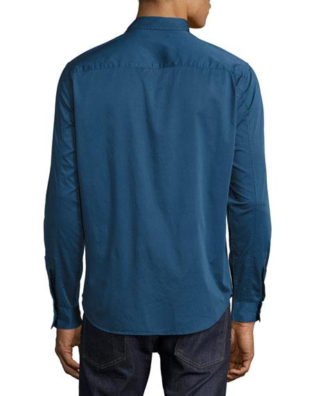 Darrel Berke Double-Pocket Shirt, Royal Blue