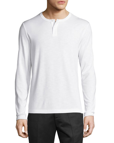 Gaskell Anemone Henley T-Shirt, White
