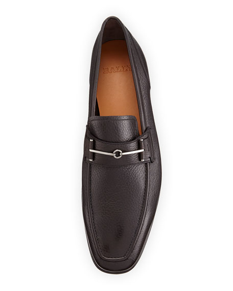 Brignant Horsebit Leather Loafer, Safari (Olive)