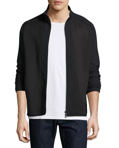 Travus Scuba Front-Zip Jacket, Black